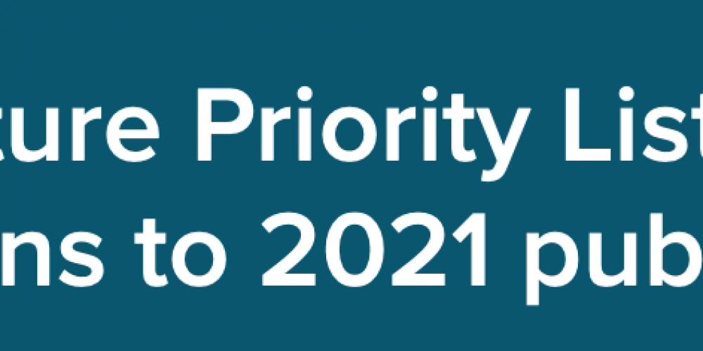 Submissions are now open for the I.A. 2021 Infrastructure Priority List Publication
